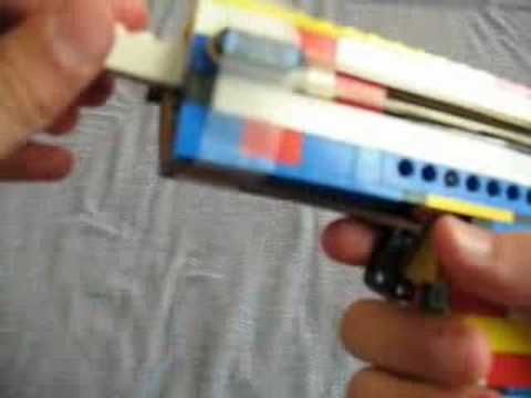 how to make a lego gun that shoots instructions