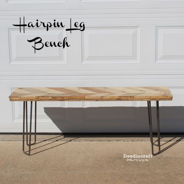 instructables mid century modern bench