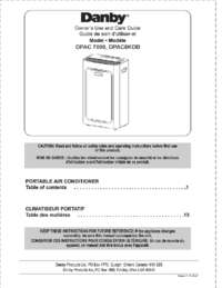 instruction manual danby air conditioner