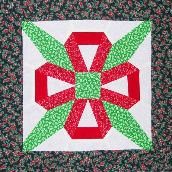 instructions for garlic knot quilt pattern